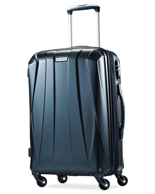 "Samsonite | Blue Vibratta 21"" Carry-on Hardside Spinner Suitcase 