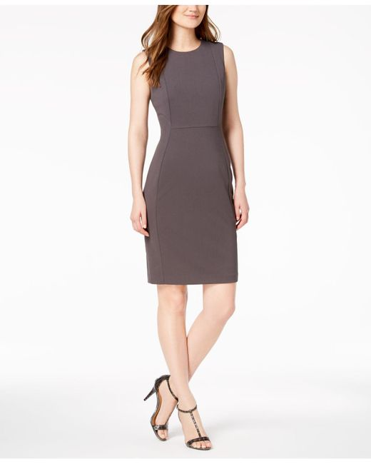 5baa9779 Calvin Klein - Multicolor Scuba Crepe Sheath Dress - Lyst ...