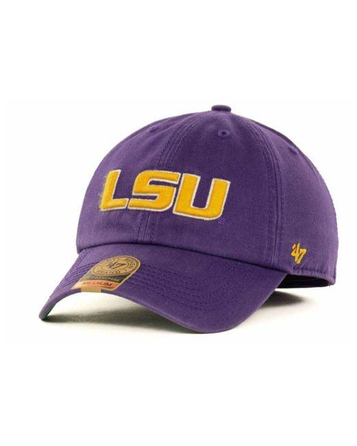 47 Brand - Purple Lsu Tigers Ncaa '47 Franchise Cap for Men - Lyst