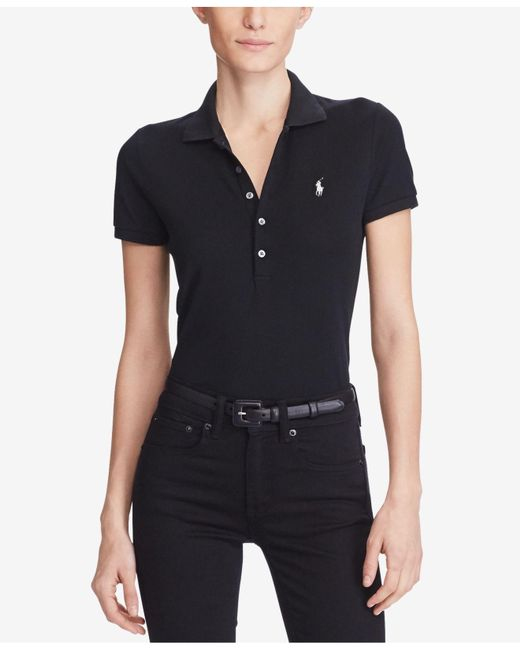 Polo Ralph Lauren - Black Skinny Stretch Polo Shirt - Lyst