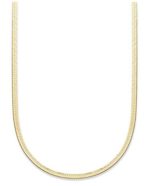 "Giani Bernini - Metallic 18k Gold Over Sterling Silver Necklace, 20"" Herringbone Chain - Lyst"