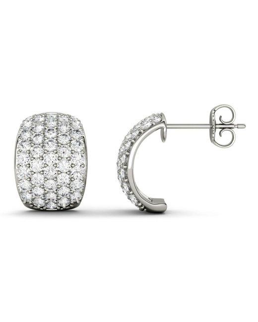 ea3a3d8eb Charles & Colvard Moissanite J-hoop Earrings (1-3/4 Ct. T.w. Diamond ...