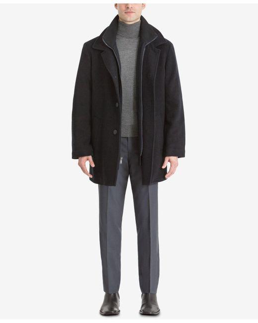 Calvin Klein - Black Coat, Coleman Zipped Bib Coat for Men - Lyst