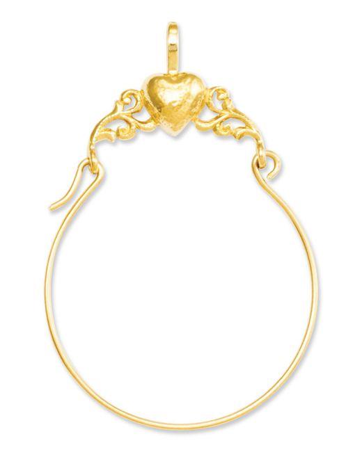 Macy's - Metallic 14k Gold Charm Holder, Polished Heart Charm Holder - Lyst