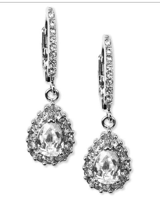 Givenchy   Metallic Silver-tone Drop Earrings   Lyst