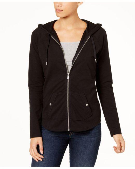 Style & Co. - Black Zip-front Jacket - Lyst