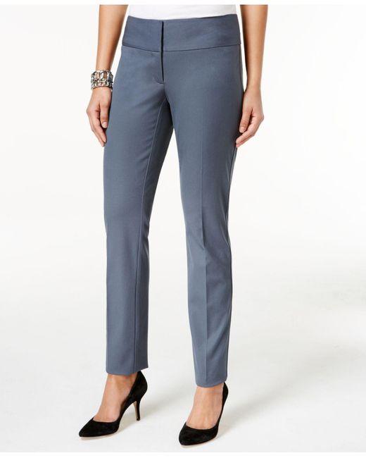 Alfani | Blue Slim Straight-leg Pants | Lyst