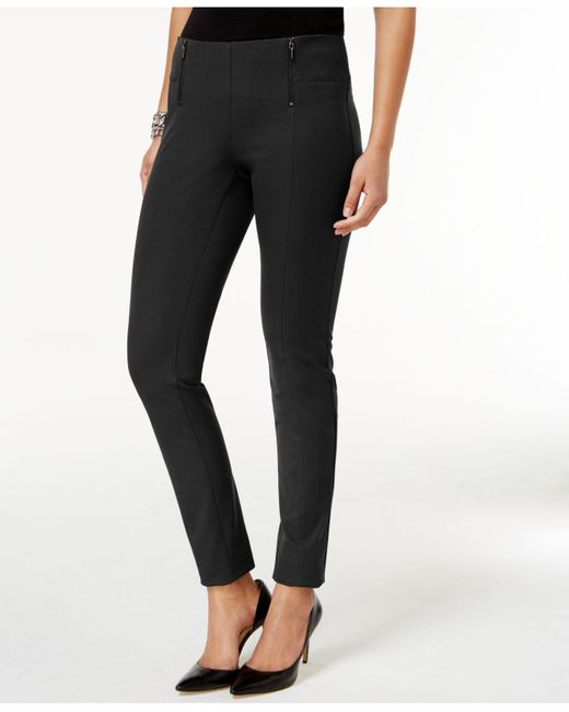 Alfani | Black Double-zip Skinny Pants | Lyst