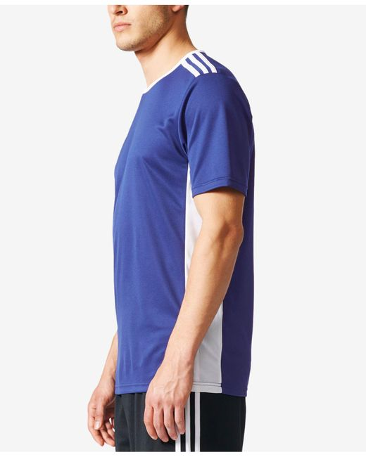 643a6618c ... Adidas - Blue Men s Entrada Climalite® Soccer Shirt for Men - Lyst