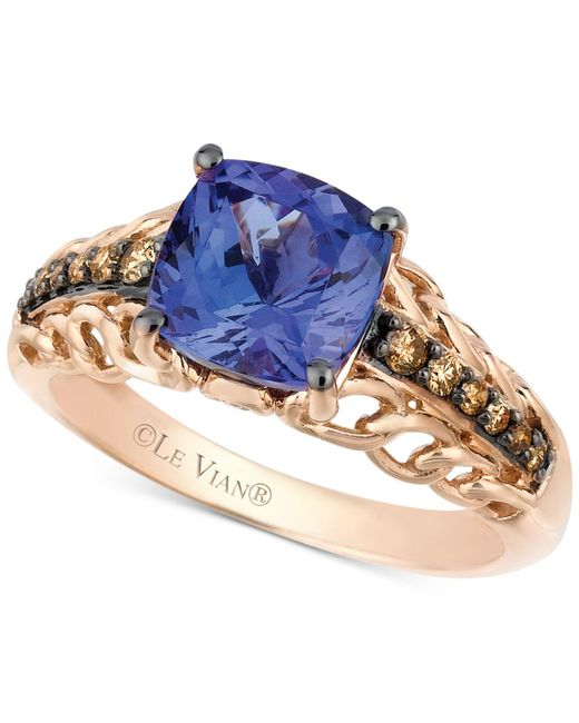 Le Vian - Brown Tanzanite (2 Ct. T.w.) And Chocolate Diamond (1/5 Ct. T.w.) Accent Ring In 14k Rose Gold - Lyst