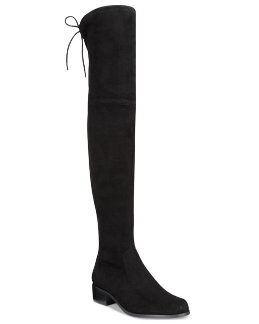 Charles David | Black Gunter Over-the-knee Flat Boots | Lyst