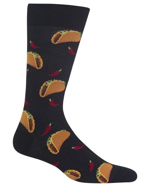 Hot Sox - Black Tacos Socks for Men - Lyst