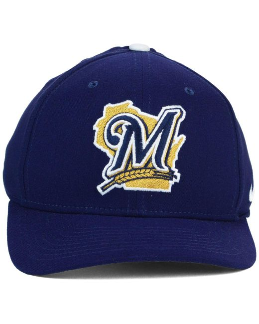 best sneakers 2627a 40af6 ... Nike - Blue Milwaukee Brewers Classic Swooshflex Cap for Men - Lyst ...