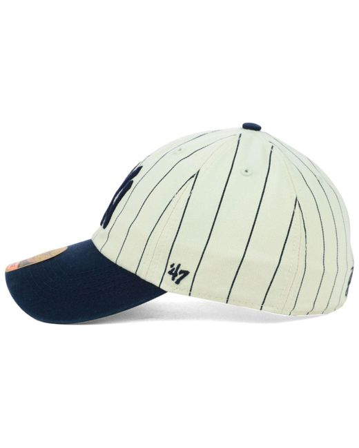7f5b4a4a0ebbd ... 47 Brand - Blue New York Yankees Pinstripe Franchise Cap for Men - Lyst  ...