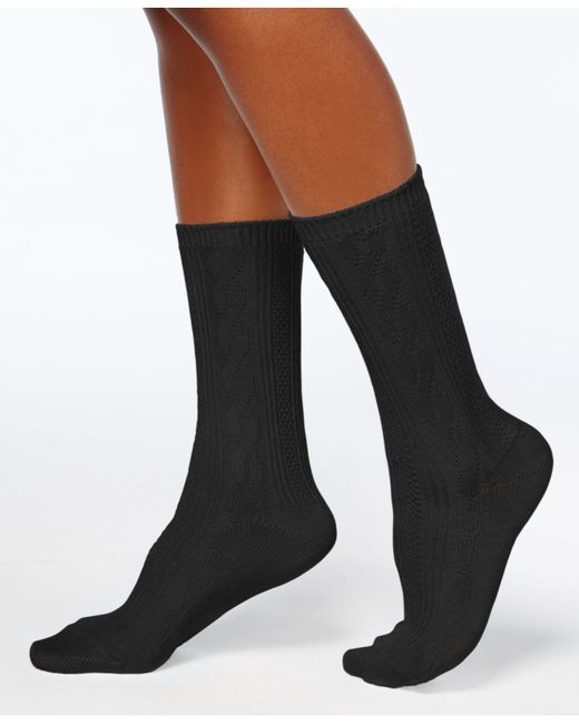 Hue | Black Women's Pointelle Boot Socks | Lyst