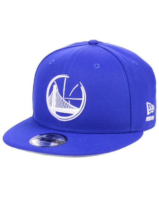 uk availability 98e7b f567b ... order ktz black golden state warriors logo trace 9fifty snapback cap  for men lyst f0f3f c17cb