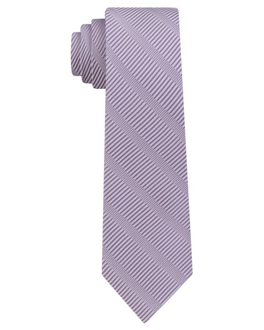 DKNY - Purple Sky Line Silk Slim Tie for Men - Lyst