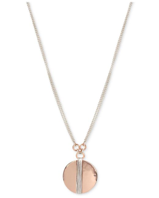 Robert Lee Morris | Metallic Two-tone Wire Wrapped Disc Pendant Necklace | Lyst
