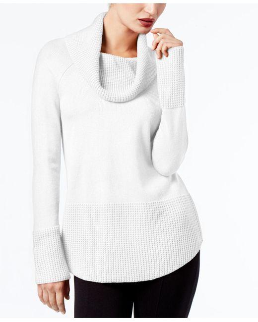 Calvin Klein   White Cowl-neck Sweater   Lyst
