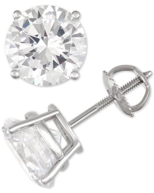 Macy's - Multicolor Diamond Stud Earrings (10 Ct. T.w.) In 14k White Gold - Lyst