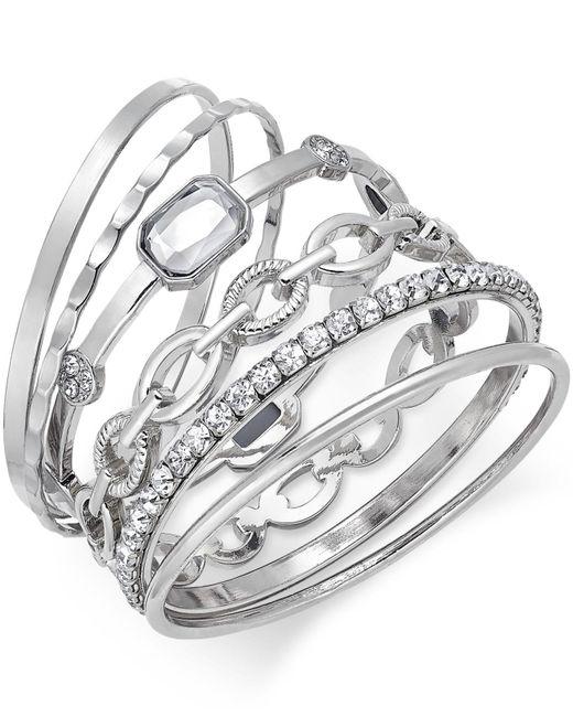 INC International Concepts | Metallic Gold-tone Crystal Enhanced Multi-bangle Bracelet | Lyst