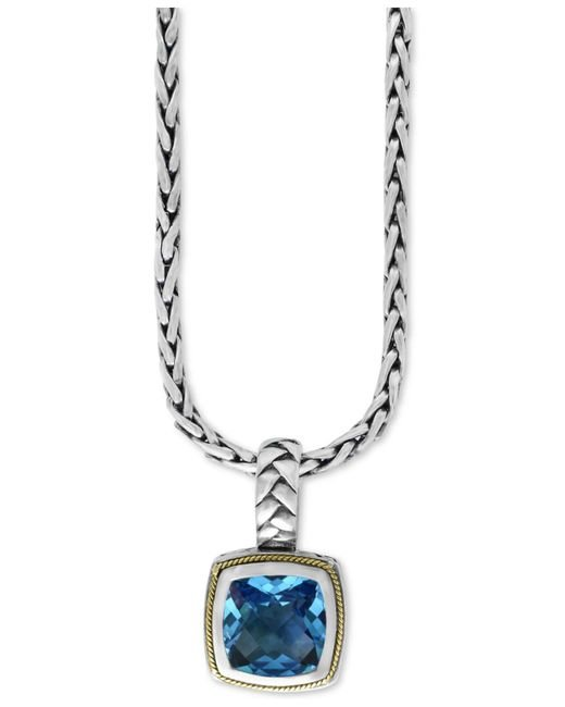 Effy Collection - Metallic Blue Topaz (4-2/3 Ct. T.w.) Pendant Necklace In 18k Gold And Sterling Silver - Lyst