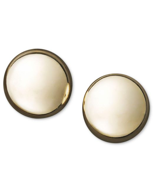 Macy's - Metallic 14k Gold Earrings, Flat Ball Stud (7mm) - Lyst