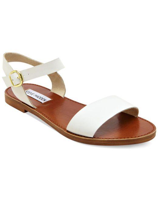 Steve Madden - White Donddi Flat Sandals - Lyst