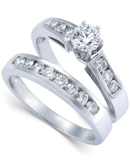 Macy's | Diamond Bridal Set In 14k White Gold (9/10 Ct. T.w.) | Lyst