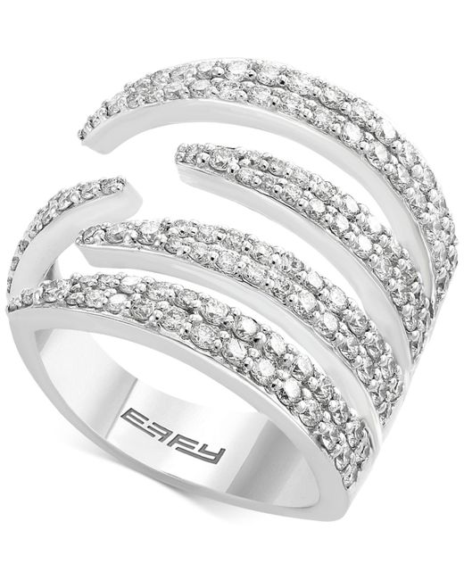 Effy Collection - Metallic Diamond Claw Statement Ring (1-1/3 Ct. T.w.) In 14k White Gold - Lyst