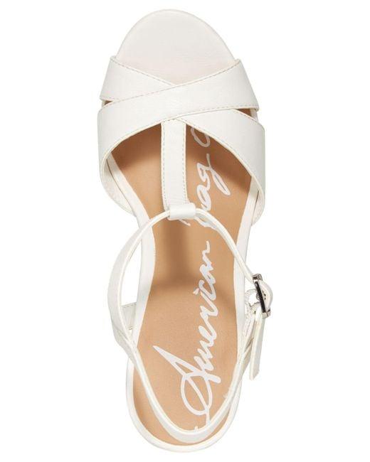 395b4dc47820 ... American Rag - White Jamie T-strap Platform Dress Sandals