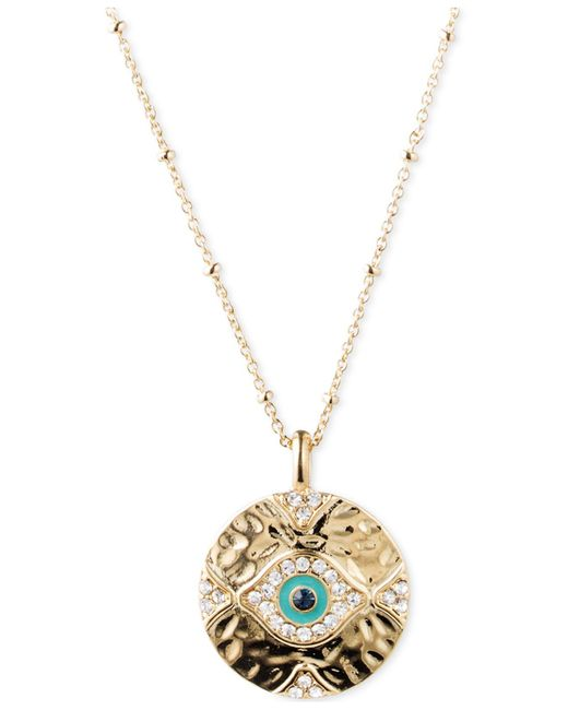 Lonna & Lilly - Metallic Gold-tone Evil Eye Pendant Necklace - Lyst