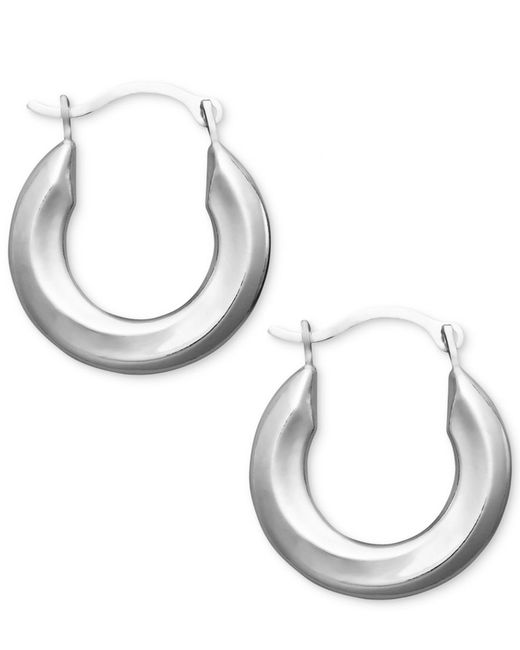 Macy's | Metallic Small Polished Tube Hoop Earrings In 10k Gold, White Gold And Rose Gold | Lyst