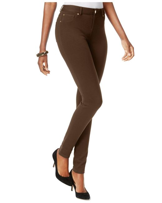 INC International Concepts | Brown Skinny-fit Ponte Pants | Lyst