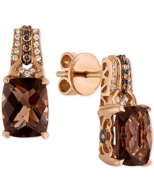 Le Vian - Metallic Smoky Quartz (3-3/8 Ct. T.w.) And Diamond (1/6 Ct. T.w.) Drop Earrings In 14k Rose Gold - Lyst
