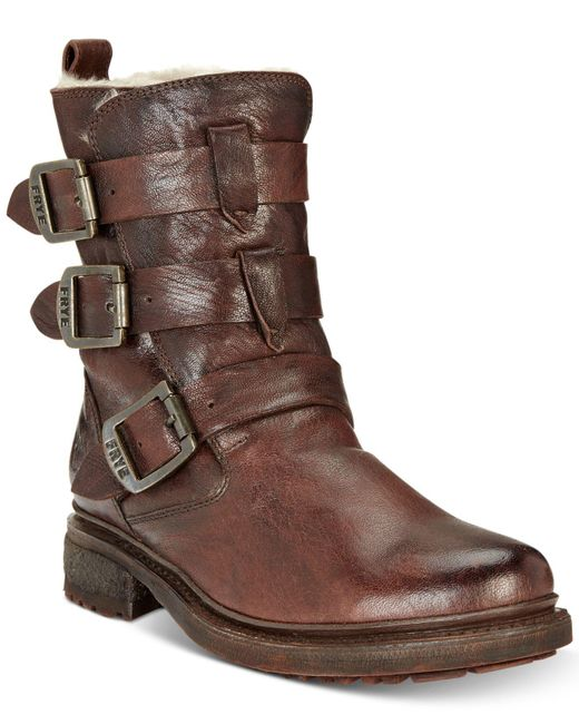 Frye | Brown Women's Valerie Strappy Boots | Lyst