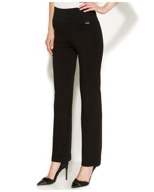 Calvin Klein | Black High-rise Straight-leg Compression Pants | Lyst