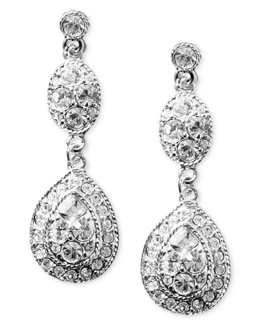Givenchy   White Earrings, Crystal Linear Teardrop   Lyst