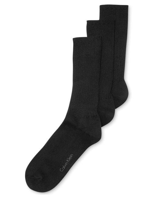 CALVIN KLEIN 205W39NYC - Black 3-pack Cotton Rich Casual Rib Socks for Men - Lyst