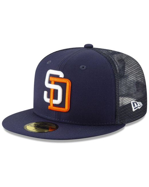sports shoes 92e4c 4be36 KTZ - Blue San Diego Padres Coop All Day 59fifty-fitted Cap for Men ...