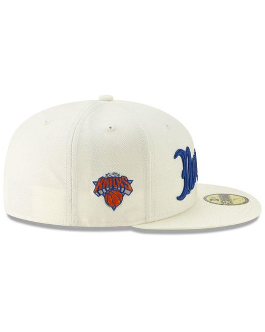 cheap for discount b1f34 4779b ... KTZ - Multicolor New York Knicks Jersey Script 59fifty-fitted Cap for  Men - Lyst ...