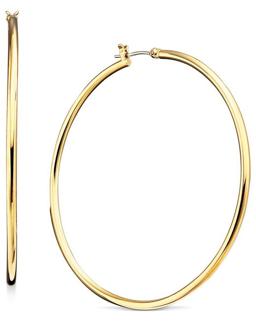 Lauren by Ralph Lauren   Metallic Gold-tone Hoop Earrings   Lyst