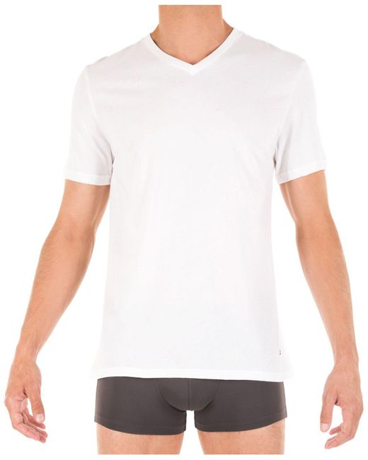Tommy Hilfiger | White Classic V-neck Tee, 3 Pack for Men | Lyst
