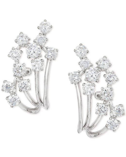 Effy Collection - Metallic Diamond Earrings (7/8 Ct. T.w.) In 14k White Gold - Lyst