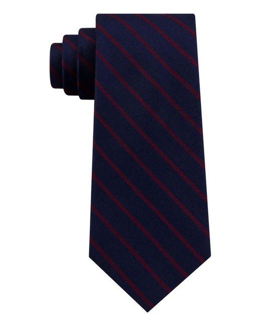 Tommy Hilfiger Blue Exotic Stripe Silk Tie for men