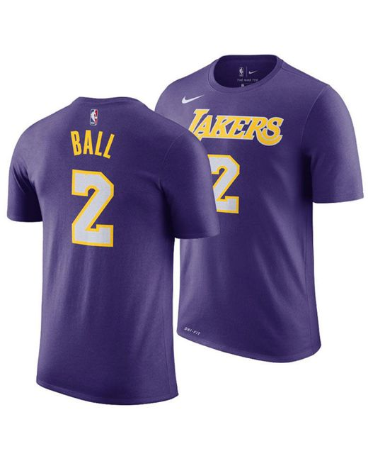 Nike - Purple Lonzo Ball Los Angeles Lakers Statement Player T-shirt for Men - Lyst
