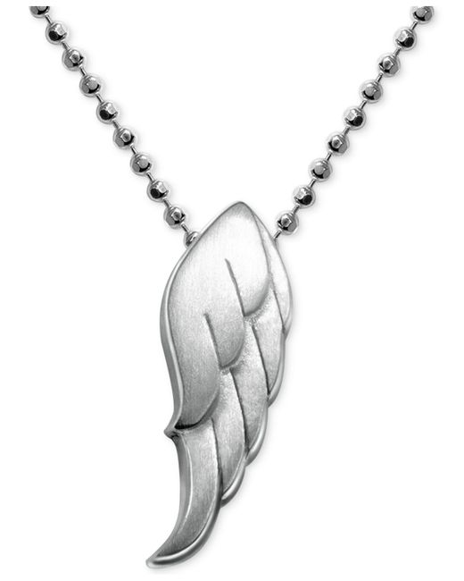 Alex Woo - Metallic Little Faith Wing Pendant In Sterling Silver - Lyst