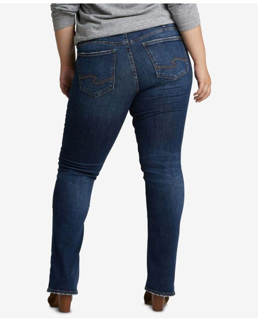 5e3a08ea244 Lyst - Silver Jeans Co. Plus Size Suki Slim Boot-cut Jeans in Blue