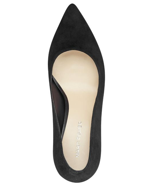 6c92b7f079b ... Marc Fisher - Black Viviene Block-heel Pumps - Lyst ...