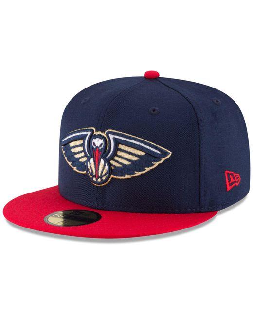 sale retailer 3f138 d071f KTZ - Blue New Orleans Pelicans 2 Tone Team 59fifty Cap for Men - Lyst ...